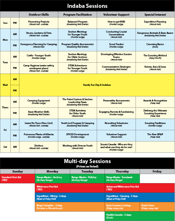 session schedule image